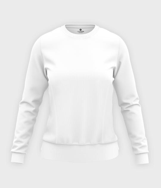 Damska bluza taliowana (bez nadruku, gładka) - biała