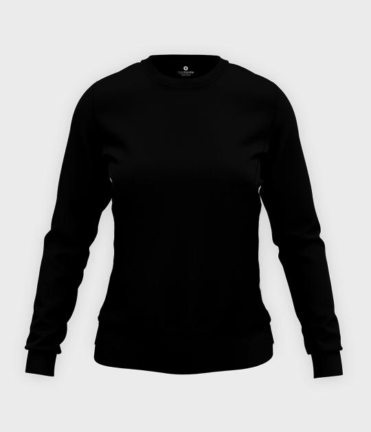 Damska bluza taliowana (bez nadruku, gładka) - czarna