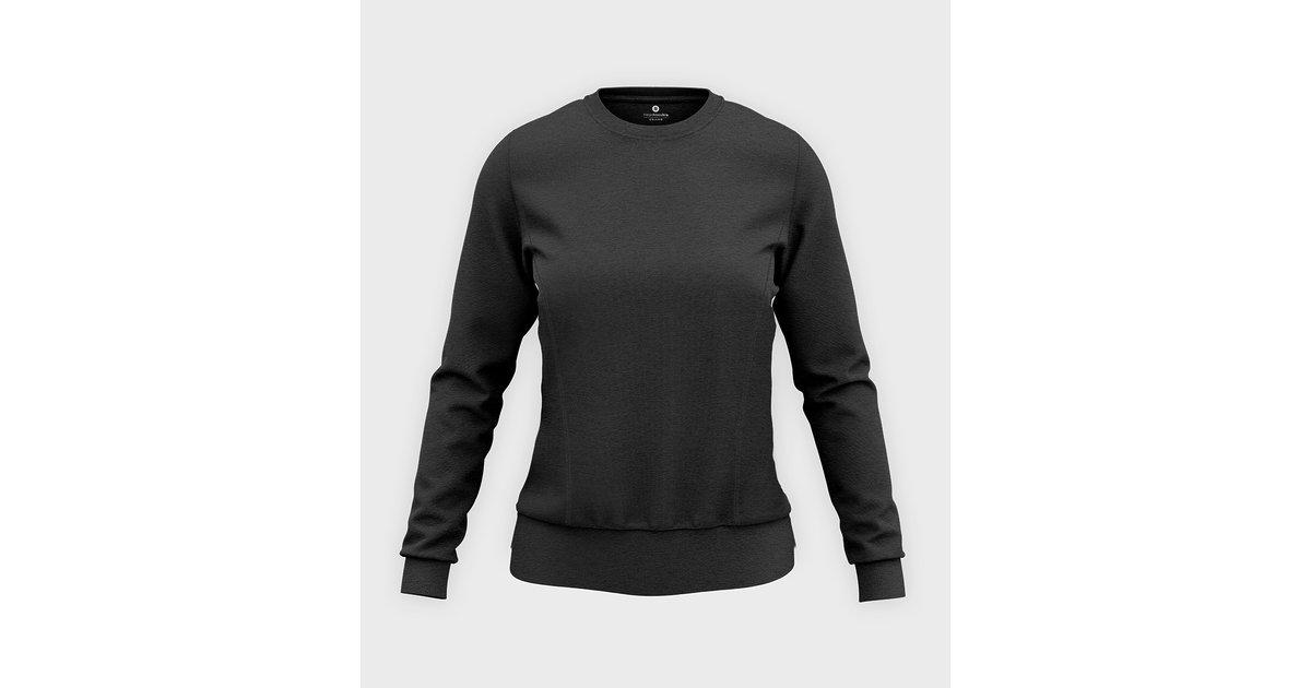 Damska bluza taliowana (bez nadruku, gładka) - grafitowa