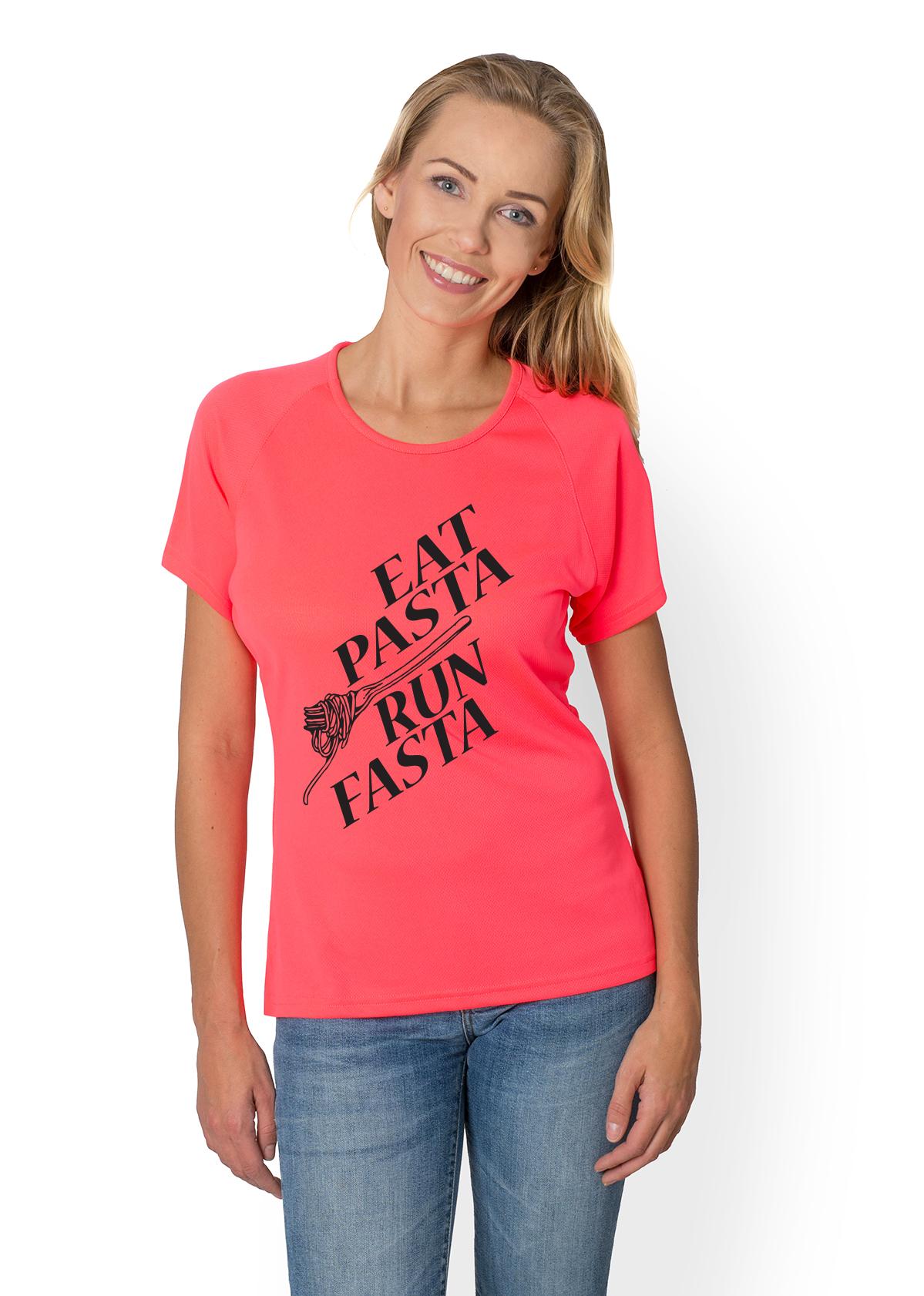 Koszulka sportowa Eat pasta run fasta